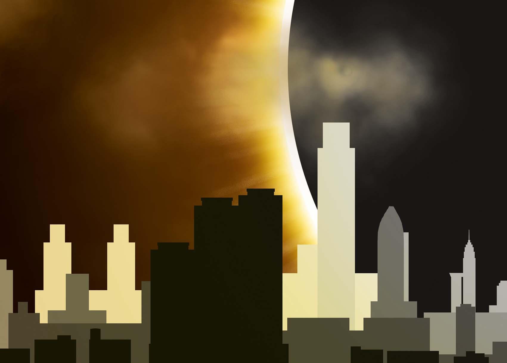 Donkere tijden voor deze stad