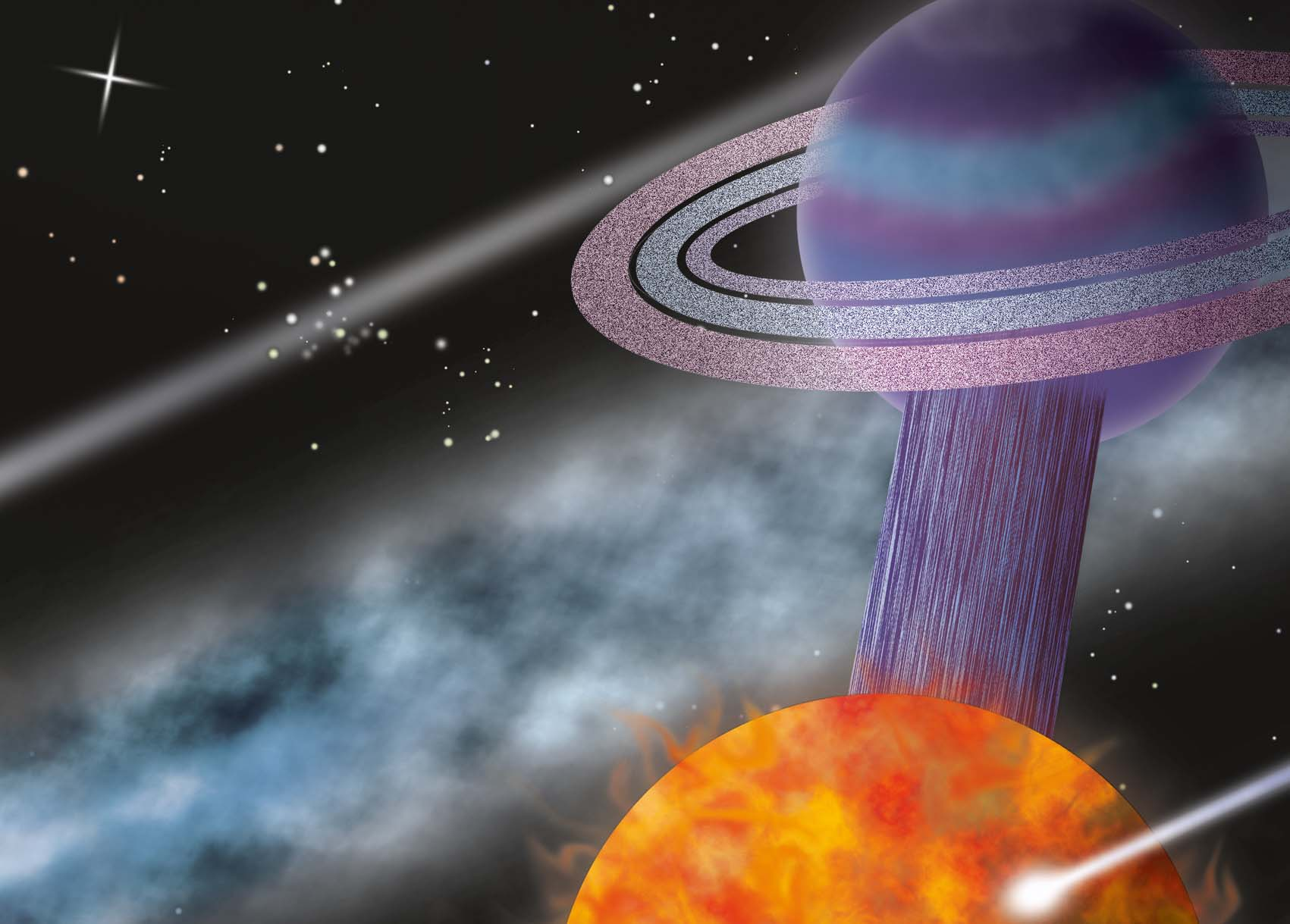 Molecuul met planeten als atomen
