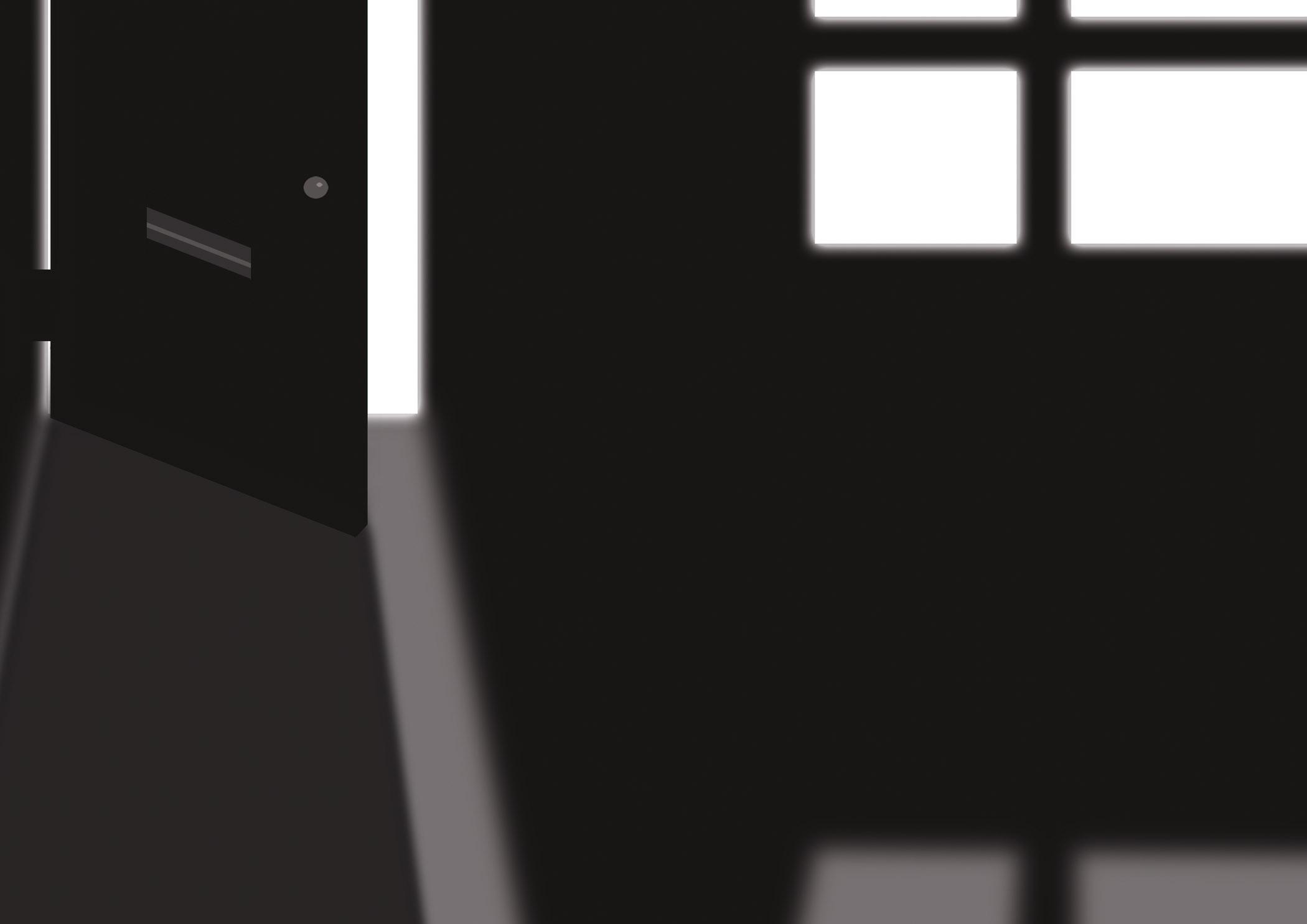 Zwart-wit van lege kamer