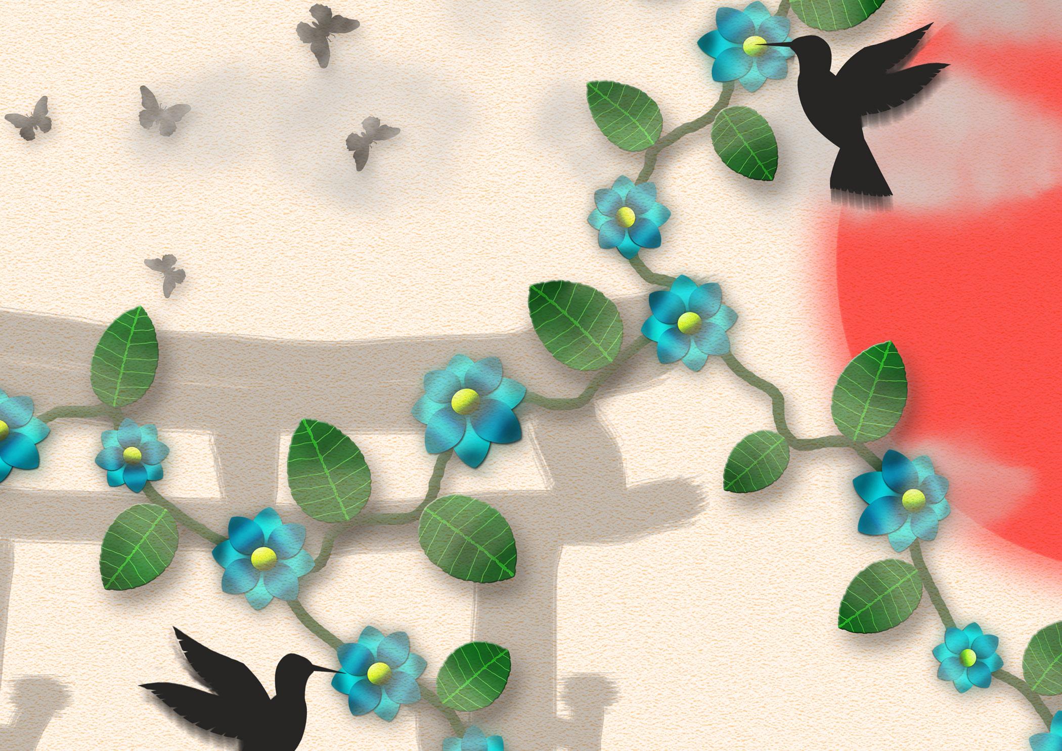 Japanese inspired shadowplay