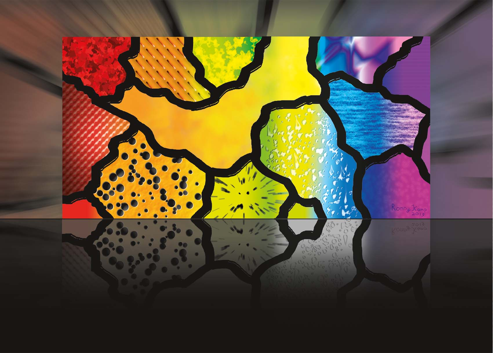 regenboog plaat